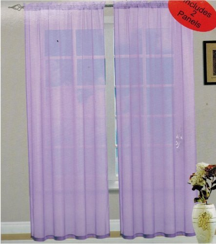Amazon.com: See Through Voile Panel/curtains/drapes;40w X 84L :Two Panels  Per Package Gold: Home & Kitchen