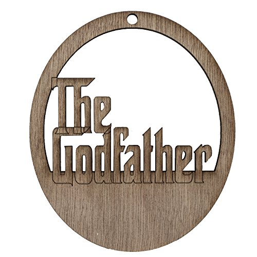 """3.4""""x4"""" Wooden the Godfather Ornament"""