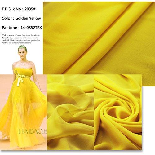 Pale Bule CH-06 48 Colors F.D.silk Pale Bule 100/% Pure Silk Chiffon Fabric By the Yard