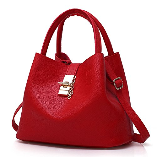 Women Fashion Soft PU Leather Top Handle bag Elegant Bucket Crossbody Shoulder Bag - Usa Free Shipping Shopping Online