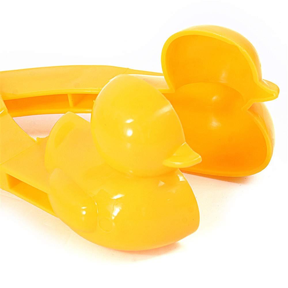 Tabanlly Duck Mold Palla di Neve Clip Giocattolo Allaperto Palla di Neve Clip Sport Allaperto Muffa di Sabbia da Neve per Bambini Bambini Lotte con Palle di Neve