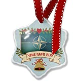 Add Your Own Custom Name, North Atlantic Treaty Organization (NATO) Christmas Ornament NEONBLOND