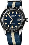 Oris Divers Sixty-Five Blue Dial 42mm Mens Watch on Blue & White Nato Strap