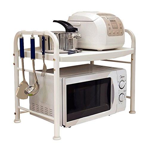 LXLA- 2-Tier Kitchen Microwave Oven Shelf Countertop Multifunction Storage Rack Rice Cooker Holder 63×37×56.5cm