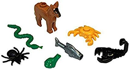 ** Lot of 5**  Lego NEW orange fish pieces Lot of 5