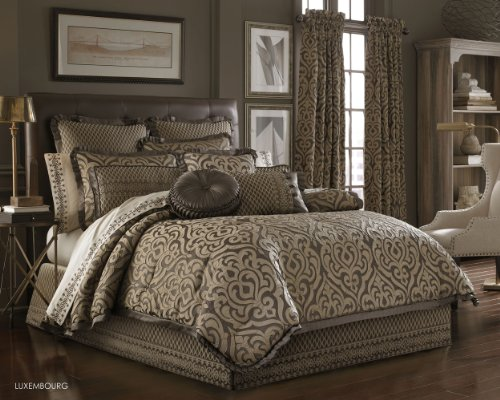 "J. Queen New York ""Luxembourg"" Comforter Set in Mink, Queen price tips cheap"