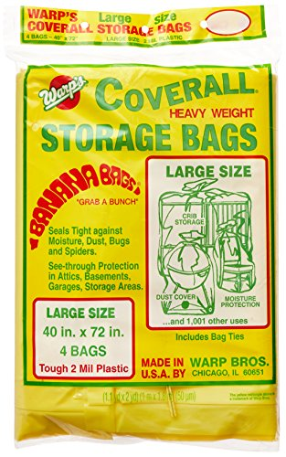 Warp Brothers CB-40 Banana Bags Storage Bags, 40-Inches by 72-Inches, 4-Count, Yellow, Yellow, 1 (Best Shoes For Moving Furniture)