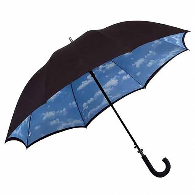 Paraguas bastón de toldo doble con diseño de nube, negro, Rob McAlister