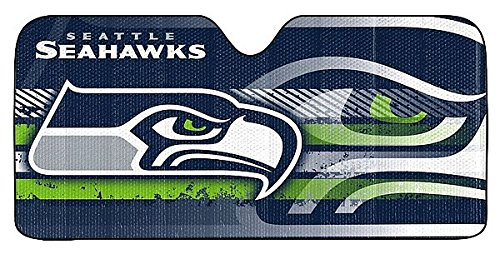 Seattle Seahawks Auto Sun Shade - 59x27 - Licensed NFL Football - Online Sports Shades