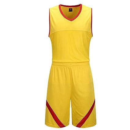 GJFENG Sportswear Uniforme De Baloncesto Traje Amarillo Sin ...