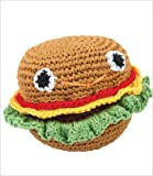 Knit Knacks Organic Crocheted Dog Toy – Hammie Hamburger, My Pet Supplies