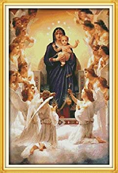 9 The Virgin Mary and her son Joy Sunday Cross Stitch kits 14CT Stamped