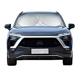 Advgears Car Windshield Sun Shade Car Window Shade Sun Visor Heat And Sun Reflectors UV Reflector Shields Keeps Vehicle Cool And Damage Free(Standard 59 x 31.5 inches)