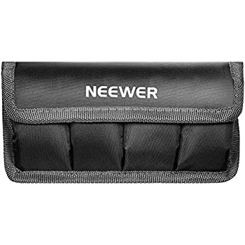 Neewer DSLR Battery Bag/ Holder/ Case for AA Battery and lp-e6/ lp-e8/ lp-e10/ lp-e12/ en-el14/ en-el15/ fw50/ f550 and More, Suitable for Battery of Nikon D800, Canon 5DMKIII, Sony A77