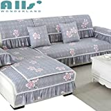 PlenTree nit Protetor lipover ofa for Lig Room with Flower Pattern Wahed otton Fabri ouh Over: Fen e lian ren, 90mX210m