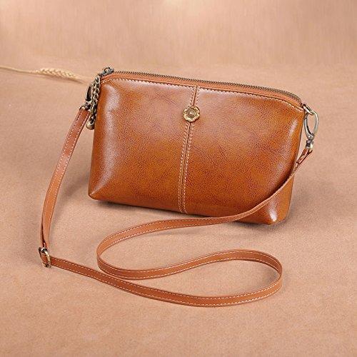 GUANGMING77 Borsetta Crossbody Bag Borsa A Tracolla Borsa A Mano Mini,Grande Vino Rosso Edition Small caramel color