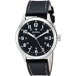 Swiza Men's WAT.0251.1003 Kretos Analog Display Swiss Quartz Black Watch