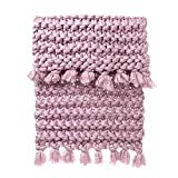 "Sikye Chunky Knitted Blanket Hand-Made Warm Thick Acrylic Knitting Throw Pet Mat Rug for Home Bedroom Decor 31.5"" x39.4 Inches (B)"