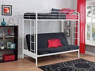 DHP Twin Over Futon Metal Bunk Bed, White (B00TPJI8UQ) | Amazon Products