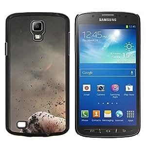"""Be-Star Único Patrón Plástico Duro Fundas Cover Cubre Hard Case Cover Para Samsung i9295 Galaxy S4 Active / i537 (NOT S4) ( Volcán abstracto de la naturaleza Fire Mountain Ash"""" )"""