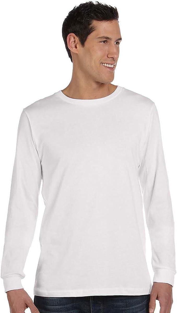 Bella Jersey Long-Sleeve T-Shirt (3501) White, M