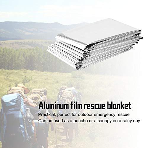 frYukiko Waterproof Disposable Survival Emergency Rescue First Aid Foil Thermal Blanket 2