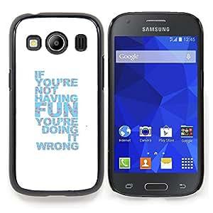 """Qstar Arte & diseño plástico duro Fundas Cover Cubre Hard Case Cover para Samsung Galaxy Ace Style LTE/ G357 (Diversión Cita inspiradora Haciendo Blanco Azul"""")"""