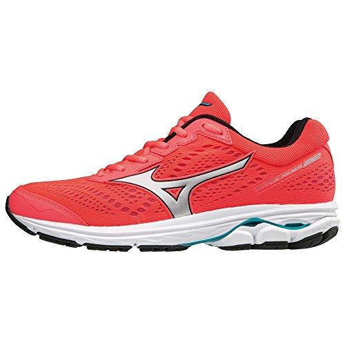 001 Femme pblue 22 silv Sneakers Mizuno fierycoral Wave Basses Rider Multicolore wSWfOvq1W