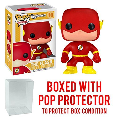 Funko Pop! DC Heroes: The Flash Vinyl Figure (Bundled with Pop BOX PROTECTOR CASE) (Justice League Black Canary And Green Arrow)