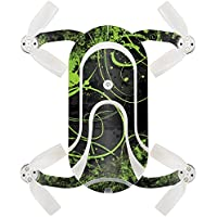 Skin For ZEROTECH Dobby Pocket Drone – Green Distortion | MightySkins Protective, Durable, and Unique Vinyl Decal wrap cover | Easy To Apply, Remove, and Change Styles | Made in the USA
