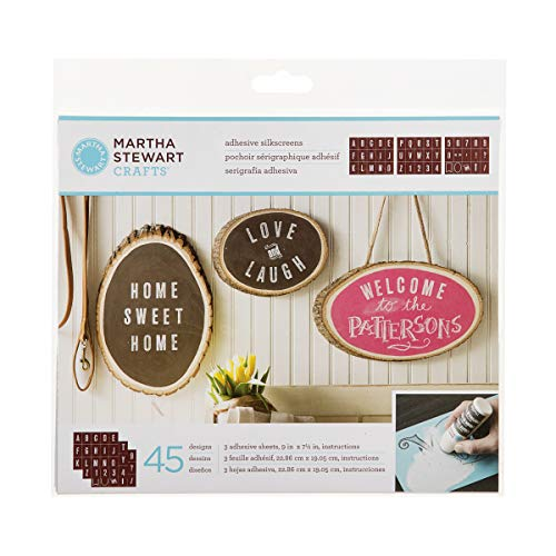 Martha Stewart Crafts 33550 Martha Stewart Striped Alphabet Silkscreens Stencil