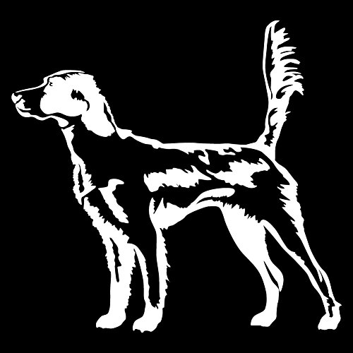 Express Yourself Products English Setter in The Field (White - Reverse Image - Small) Decal Sticker - Hunting Dog -