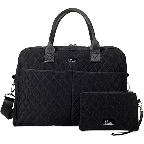 Pursetti Quilted Tote Bag for Women w/Bonus Wristlet