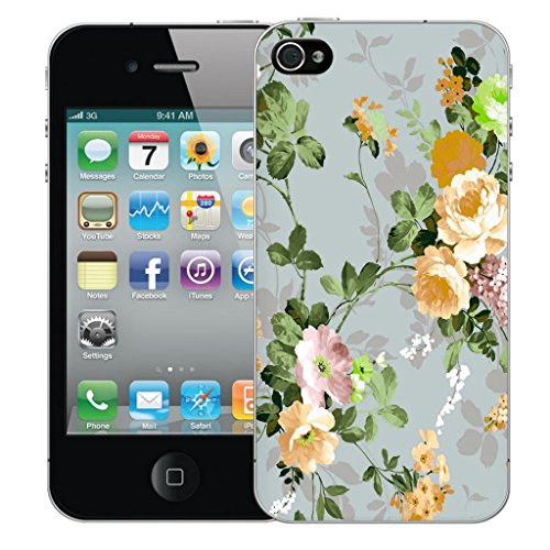 Mobile Case Mate iphone 4 4s clip on Dur Coque couverture case cover Pare-chocs - yellow rose Motif avec Stylet
