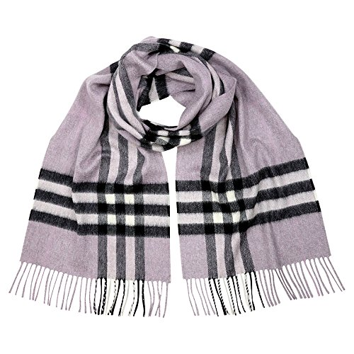 Burberry Women's Classic Check Scarf Dusty Lilac by BURBERRY