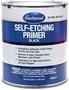Amazon Com Eastwood Lacquer Single Stage Base Self Etching Primer Black Gallon 120 Sq Ft Automotive