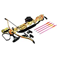 160 LBS Hunting Crossbow Red Dot Sight Black Arrows Quiver Rope Cocking 235FPS