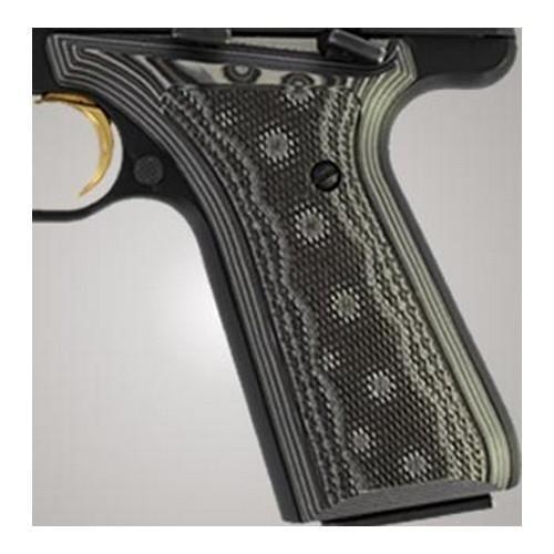 Hogue Browning BuckMark Grips (Checkered G-10 G-Mascus), Black/Grey