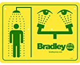 Bradley 114-052 Combination Shower and Eyewash Safety Sign