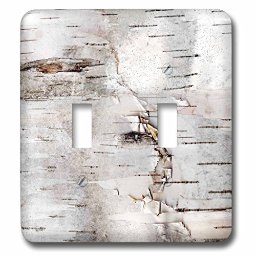 3dRose (2) Double Toggle Switch (lsp_266462_2) Birch Bark Photo Nature Tree Photography