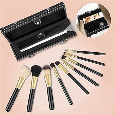 Juego de pinceles Unicorn para maquillaje profesional (12 unidades) de colores, con estuche protector de cuero: Amazon.es: Belleza