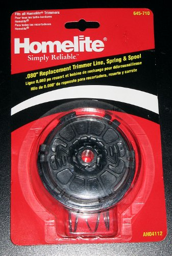 """Homelite .080"""" Replacement Trimmer Line, Spring & Spool"""