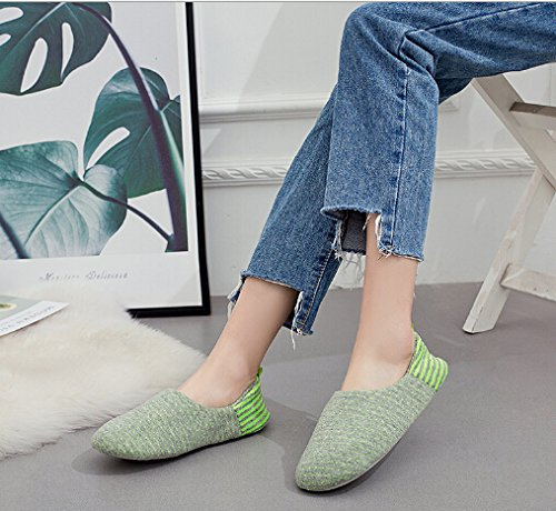 Shoes Green Mule Womens Anti Soft Bedroom Slippers Skid Bootie Greenery Cotton Home Grey Slip Footwear Indoor Clog Warm on Scuff HSxBv