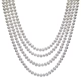 HinsonGayle AAA Handpicked 6.5-7 White Freshwater Cultured Pearl Rope Necklace 82'' Endless Strand