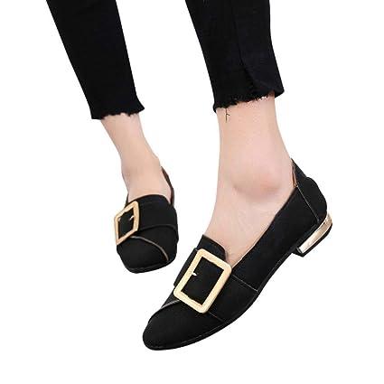 Sonnena zapatos de Mujer, casual zapatos Slip-on Casual de Cuero de Mujer Zapatos