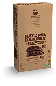 Nature's Bakery Brownie double chocolate, real dates, cocoa and whole grain. 12 twin packs 2 oz Twin Packs (6 Packs), Vegan Snacks