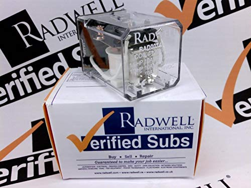 (RADWELL VERIFIED SUBSTITUTE KRPA-11AG-120V-SUB Relay, 120VAC, 10A 2PDT OCTAL Relay)