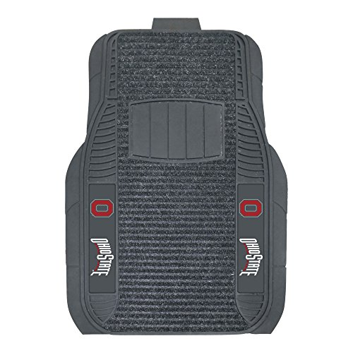 FANMATS NCAA Ohio State University Buckeyes Nylon Face Deluxe Car Mat ()