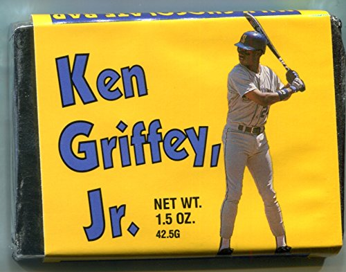 Ken Griffey Jr Milk Chocolate Bar Baseball RC Rookie Card 1989 Pacific Trading Cards Seattle Mariners Yellow Wrapper