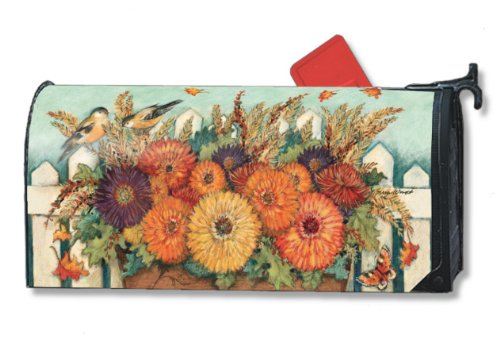 MailWraps Red Geraniums Oversized Mailbox Cover